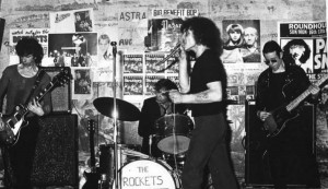 THE ROCKETS, ca. early '76.  L to R: Andy Colquhoun, Dave Rochelle, Jimmy Coull, Oz Osbourne.