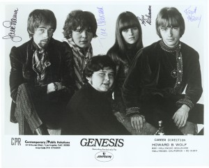 Genesis, 1968. Jac Ttanna on far left.