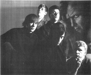 Hawk and the Randelas, 1966. L to R: Kirk Holmquist (electric piano and Vox organ), Roger Huycke (drums), Ron Overman (bass), Jeff Hawks (lead Vocals), Craig Tarwater (guitar).