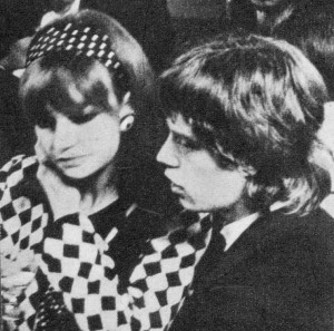 Chrissie Shrimpton and Mick Jagger.